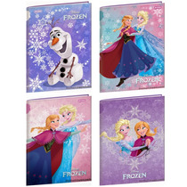 Caderno Brochura Capa Dura Frozen - Olaf, Ana E Elsa 96f