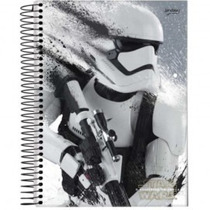 Caderno Star Wars Universitário 200 Folhas 10 Matérias
