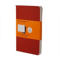 Caderno Moleskine Cahier Pautado Grande Kit C 3 - Vermelho
