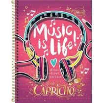 Caderno 12 Matérias 240 Folhas Capricho Music Is Life!
