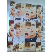 Caderno One Direction 1 Materia Com Adesivos