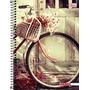 Caderno Flex 10 Matérias 200 Folhas Mais+ Feminino Bicicleta