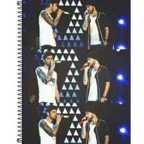 Caderno Ziam (zayn + Liam) One Direction 1 Materia