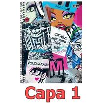 Caderno Monster High 10 Materias 200 Folhas Escolha Sua Capa