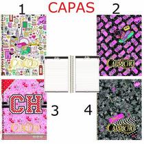 Kit C/ 4 Cadernos 10 Matérias Capricho Cd - Tilibra