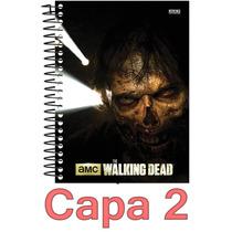 Caderno The Walking Dead 15 Materias 300 Folhas Escolha Capa