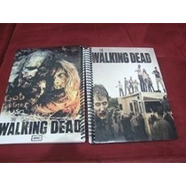 Caderno The Walking Dead 10 Materia 200 Folhas Com Adesivos
