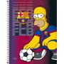 Caderno Espiral Capa Dura 1 Matéria Simpsons Barcelona
