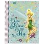 Caderno Capa Dura Universitário 10x1 200 Folhas Tinker Bell