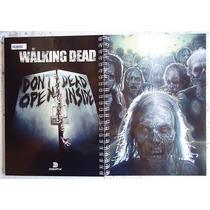 Caderno The Walking Dead 16 Materia 320 Folhas Com Adesivos