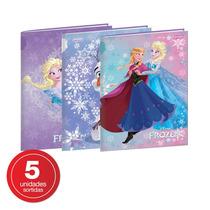 Caderno Brochura 1/4 Capa Dura 96 Folhas Frozen - Jandaia