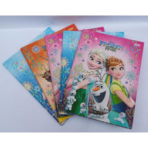 Kit Com 2 Pacotes De Caderno Brochurão 96 Folhas Frozen
