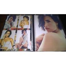 Caderno Demi Lovato 15 Materias Com Adesivos
