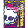 Caderno Capa Dura Universitário Monster High 10 Matérias -