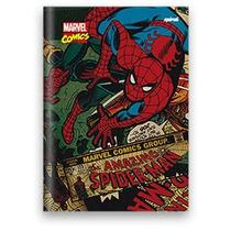 Caderno 1/4 Capa Dura Brochura 96 Folhas Spiderman