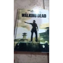 Caderno The Walking Dead 1 Materia 96 Folhas Com Adesivos
