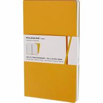 Caderno Moleskine Volant - Grande - Pautado - Amarelo - 7887