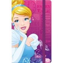 Caderneta Costurada Sem Pauta Princesas 80 Folhas - Tilibra