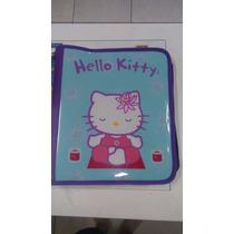 Fichário Hello Kitty Com Zíper E Alça - Bloco De Fls Grátis