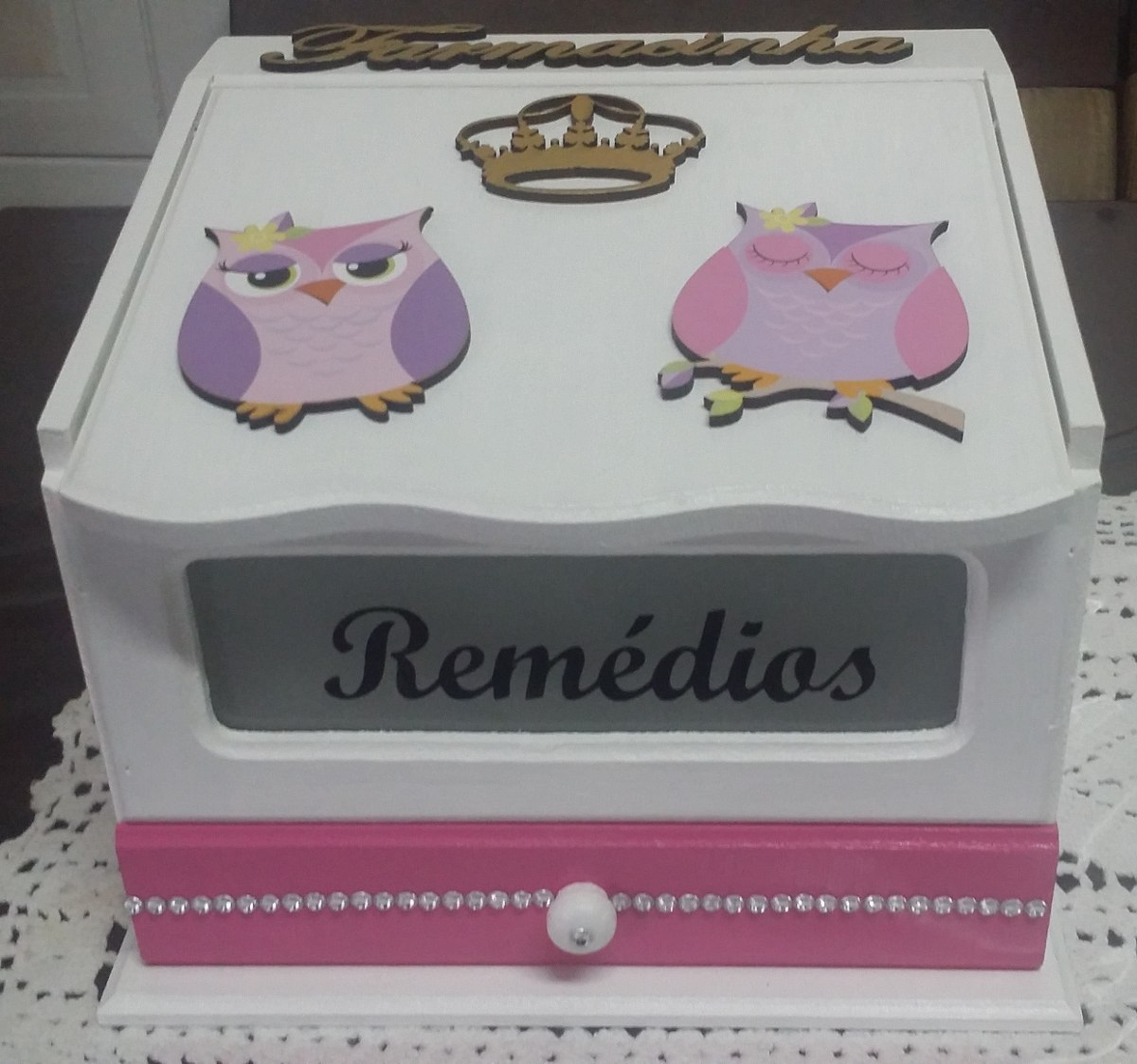 caixa de remédios (farmacinha) decorada corujinha #864560 1200x1123