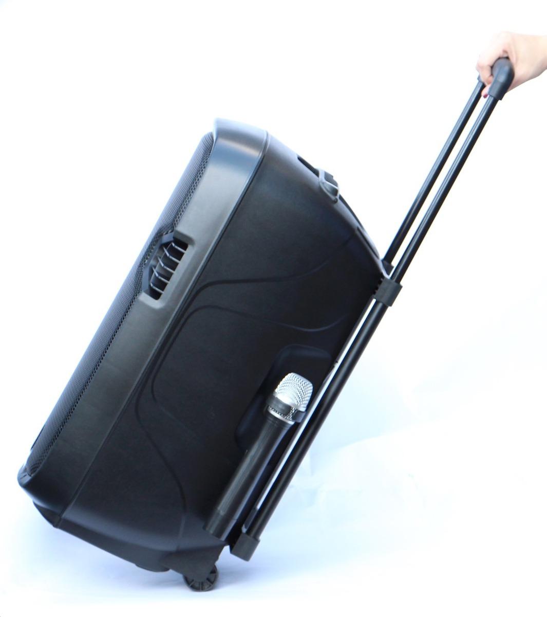 caixa de som com rodinha amplificada ativa xlounge 12`` #327F99 1065x1200