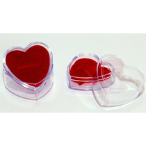 Lote C/360 Embalagem Coração Acrilico Lazzo Embalagens