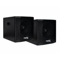 Kit Sub Woofer Ativo + Passivo Master Audio 1x15 Jbl Gwa400