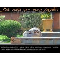 Caixa De Som Pedra Para Som Ambiente Em Jardim, Etc