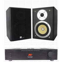 Kit Stereo Pure Acoustics Mac 500 + Amplificador Aat Pm1-v