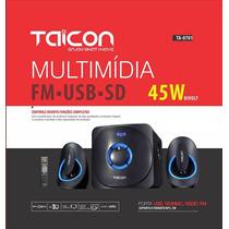 Sist Multim Taicon 2.1,45w,fm,sd,usb,cont Rem,biv Cód22736