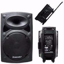 Caixa Som Amplificada Ecopower 241 Ativa 200w-usb-bluethooth