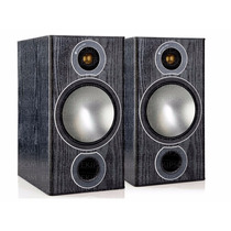 Caixa Bookshelf Monitor Audio Bronze 2 Preto - Par - Oficial
