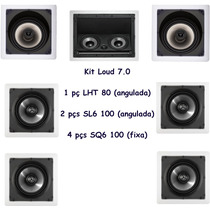 Kit 7.0 Caixa De Gesso Loud Lht80 + Sl6100 Home Theater