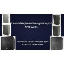 Kit Caixas De Som Ativas Para Sonorização Grande Porte