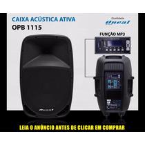 Caixa Ativa Oneal Opb1115 Mp3 Usb Grava Plastica 220w Rms.