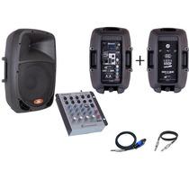 Kit Mesa + Caixa Ativa 10 + Caixa Passiva 10 - L L Áudio