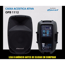 Caixa Ativa Oneal Opb1112 Mp3 Usb Plastica 200w Rms.