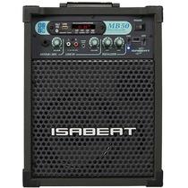 Caixa Multiuso Isabeat Bluetooth Rca P2 P10 Radio Fm 20w