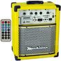 Caixa Multi Uso Mackintec Young Uz X150 Usb/fm 15w Amarelo