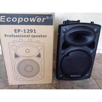 Caixa De Som Amplificada Ecopower Ep 1291 De 350 Wats