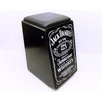 Cajon Percussion Tribo Jack Daniels Eletrico Preto - 18457