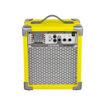 Caixa Som Amplificada Frahm Lc200 Bluetooth Usb Sd Fm Amarel
