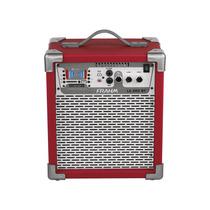 Caixa Som Amplificada Frahm Lc200 Bluetooth Usb Sd Fm, Verm.