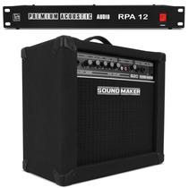 Amplificador Cubo Contra Baixo Sound Maker + Filtro Tomadas