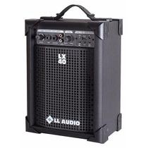 Caixa Amplificada Ll Lx40 Usb Cubo Guitarra Violão Microfone