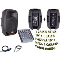 Kit Mesa + Caixa Ativa 10 + Caixa Passiva 10 Frete Grátis