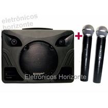 Caixa Ecopower Ep1297 Sem Fio 250w Rms Falante8 2 Microfones