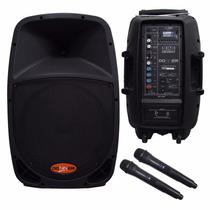 Caixa De Som Ativa Com Bateria Dr12 Bat Mic S/fio+fm+usb