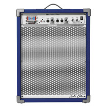 Caixa Som Amplificada Frahm Lc600 Bluetooth Usb Sd Fm Azul