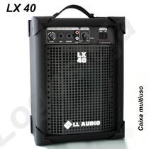 Caixa Amplificada Cubo Guitarra Violão Microfone Pc Lx40